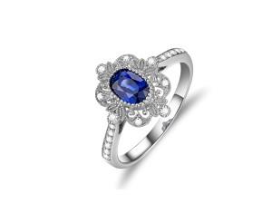 斯里蘭卡皇家藍寶戒0.65克拉 015