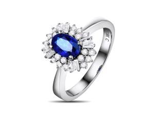 斯里蘭卡皇家藍寶戒0.65克拉 040