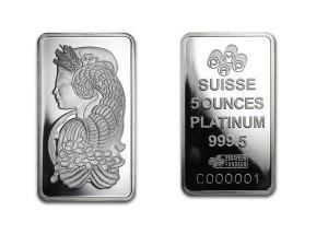 PAMP瑞士財富女神鉑金條5盎司