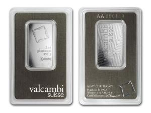 Valcambi瑞士鉑金條1盎司