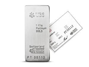 UBS瑞士鉑金條1公斤