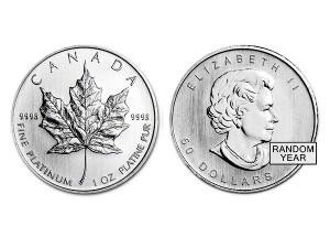 加拿大楓葉鉑金幣1盎司