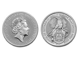 2018英國格里芬獅鷲鉑金幣1盎司