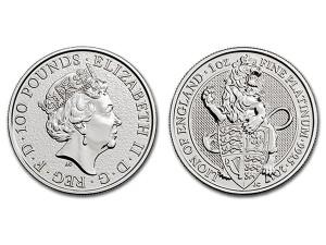 2017英國獅皇鉑金幣1盎司