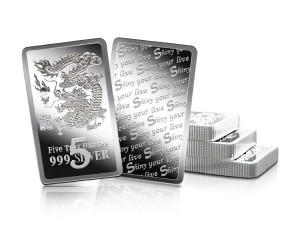 炫麗龍雕銀條5盎司精裝版(.999)