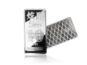 炫麗銀條10盎司精裝版(.999)