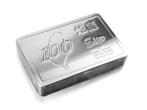 炫麗銀磚100盎司精裝版(.9999)