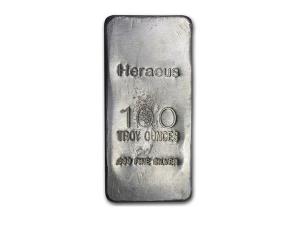 Argor Heraeus賀利氏銀條100盎司