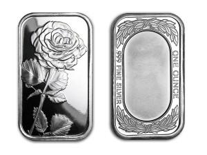 玫瑰銀條1盎司