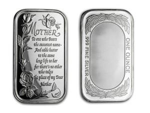 「獻給母親的一首詩」銀條1盎司