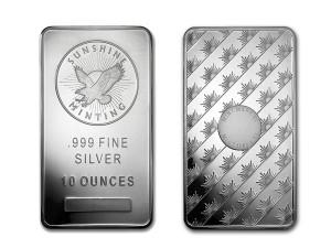 陽光鑄幣廠銀條10盎司