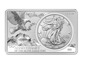 2021美國鷹揚35週年銀條2盎司