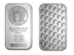 陽光鑄幣廠銀條1盎司(經典款)