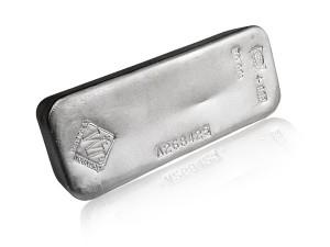 Johnson銀磚100盎司