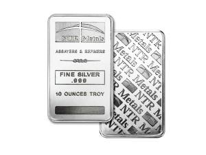 美國NTR銀條10盎司