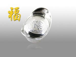 空心銀元寶-福 5錢