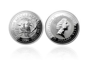 1994澳洲笑鴗鳥銀幣1公斤