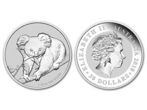 2010澳洲無尾熊銀幣1盎司