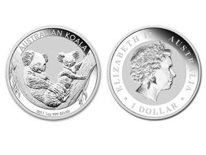 2011澳洲無尾熊銀幣1盎司