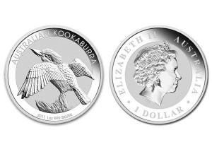 2011澳洲笑鴗鳥銀幣1盎司