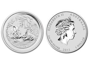 2011澳洲生肖兔年銀幣1盎司(系列II)