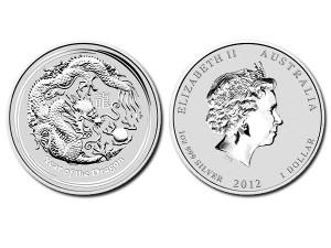 2012澳洲生肖龍年銀幣1盎司(系列II)