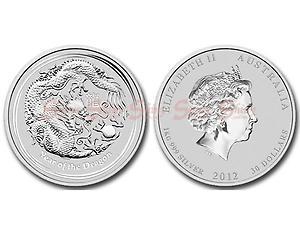 2012澳洲生肖龍年銀幣1公斤
