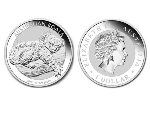 2012澳洲無尾熊銀幣1盎司