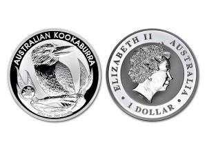 2012澳洲笑鴗鳥銀幣1盎司(生肖龍特殊版)