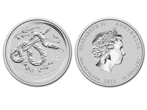2013澳洲生肖蛇年銀幣10盎司(系列II)