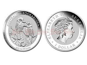 2013澳洲笑鴗鳥銀幣1盎司