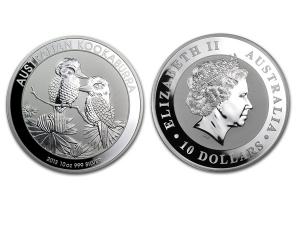 2013澳洲笑鴗鳥銀幣10盎司