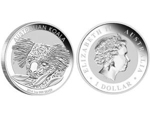 2014澳洲無尾熊銀幣1盎司