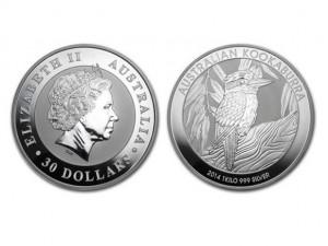 2014澳洲笑鴗鳥銀幣1公斤