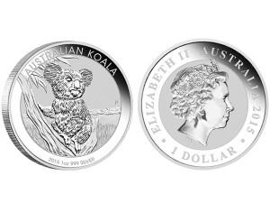 2015澳洲無尾熊銀幣1盎司