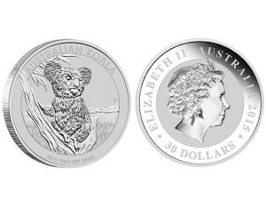 2015澳洲無尾熊銀幣1公斤