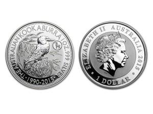 2015澳洲笑鴗鳥銀幣1盎司(生肖羊特殊版)