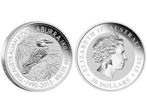 2015澳洲笑鴗鳥銀幣1公斤