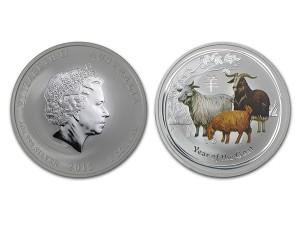 2015澳洲生肖羊年銀幣1盎司(系列II-彩色版)