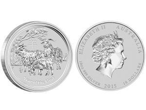 2015澳洲生肖羊年銀幣10盎司(系列II)