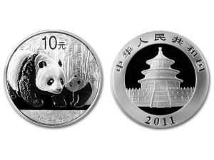 2011中國熊貓銀幣1盎司