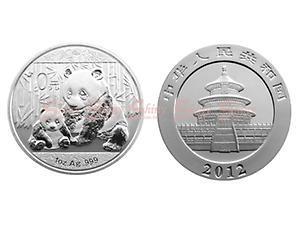2012中國熊貓銀幣1盎司