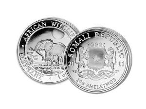 2011索馬利亞非洲象銀幣1盎司