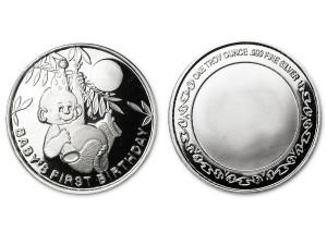 彌月之喜銀幣 (附保護殼)