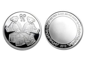 寶貝雙胞胎銀幣 (附保護殼)