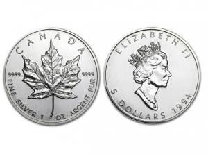 1994加拿大楓葉銀幣1盎司