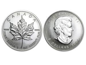 2008加拿大楓葉銀幣1盎司