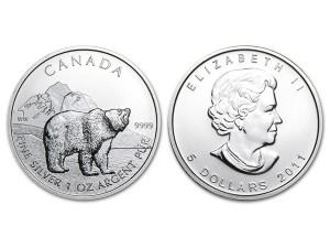 2011加拿大灰熊銀幣1盎司