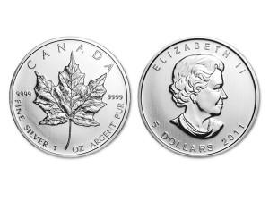2011加拿大楓葉銀幣1盎司