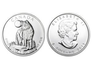 2011加拿大灰狼銀幣1盎司